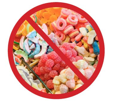 say no to candy