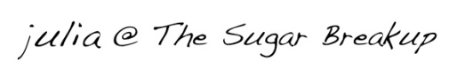tsbu julia the sugar breakup signoff handwriting dakota jpg