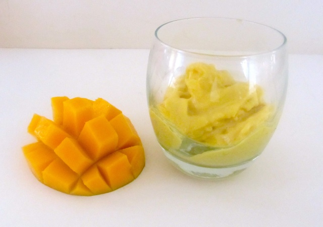 Coconut mango sorbet