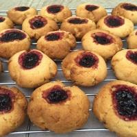 Jam Drop Biscuits With Coconut