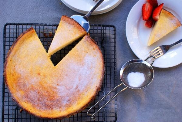 Turn cheese cake